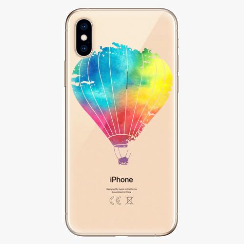 Silikonové pouzdro iSaprio - Flying Baloon 01 na mobil Apple iPhone XS