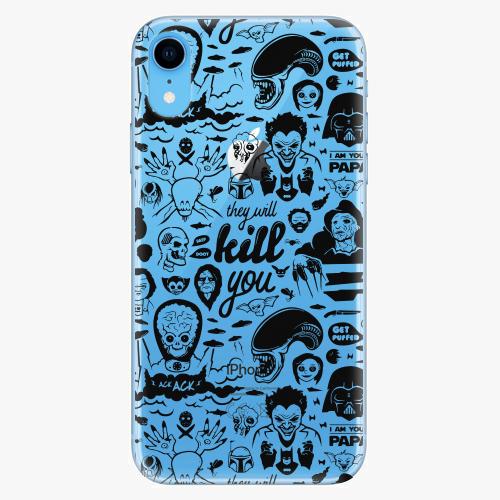 Silikonové pouzdro iSaprio - Comics 01 black na mobil Apple iPhone XR