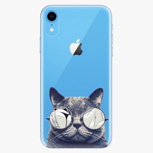 Silikonové pouzdro iSaprio - Crazy Cat 01 na mobil Apple iPhone XR