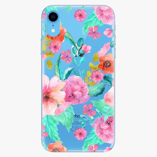 Silikonové pouzdro iSaprio - Flower Pattern 01 na mobil Apple iPhone XR