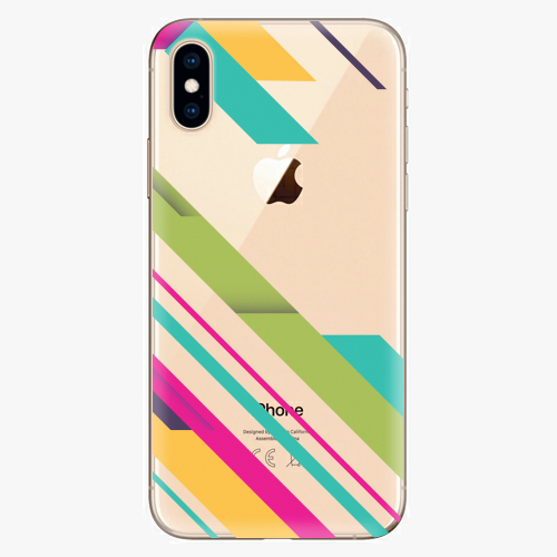 Silikonové pouzdro iSaprio - Color Stripes 03 na mobil Apple iPhone XS