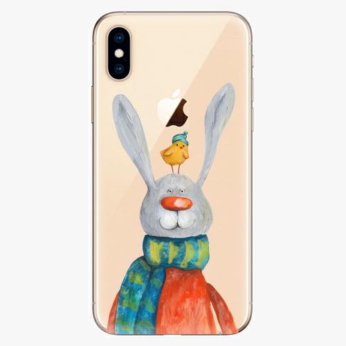 Silikonové pouzdro iSaprio - Rabbit And Bird na mobil Apple iPhone XS