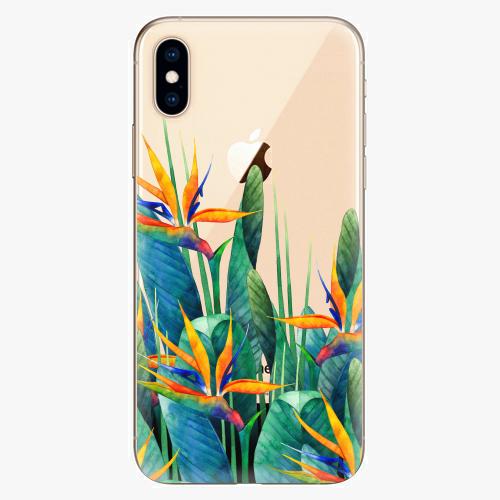 Silikonové pouzdro iSaprio - Exotic Flowers na mobil Apple iPhone XS