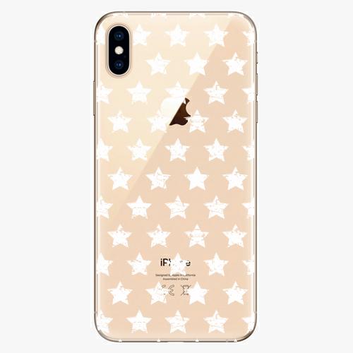 Silikonové pouzdro iSaprio - Stars Pattern white na mobil Apple iPhone XS Max