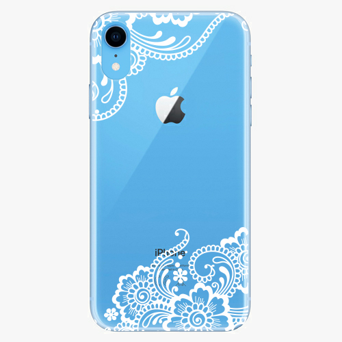 Silikonové pouzdro iSaprio - White Lace 02 na mobil Apple iPhone XR