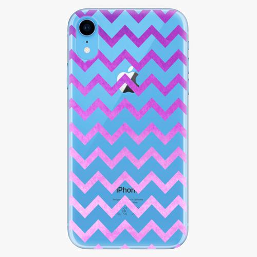 Silikonové pouzdro iSaprio - Zigzag purple na mobil Apple iPhone XR
