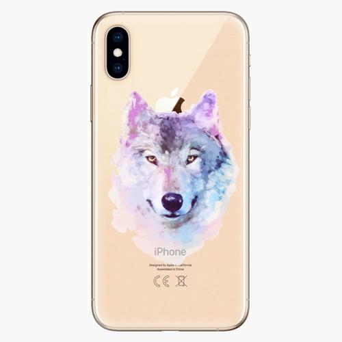 Silikonové pouzdro iSaprio - Wolf 01 na mobil Apple iPhone XS