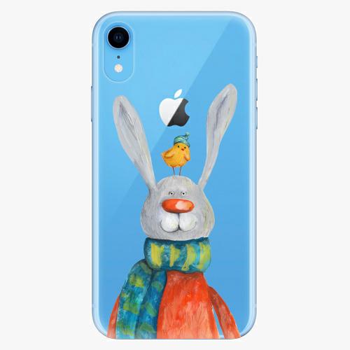 Silikonové pouzdro iSaprio - Rabbit And Bird na mobil Apple iPhone XR