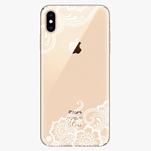 Silikonové pouzdro iSaprio - White Lace 02 na mobil Apple iPhone XS Max