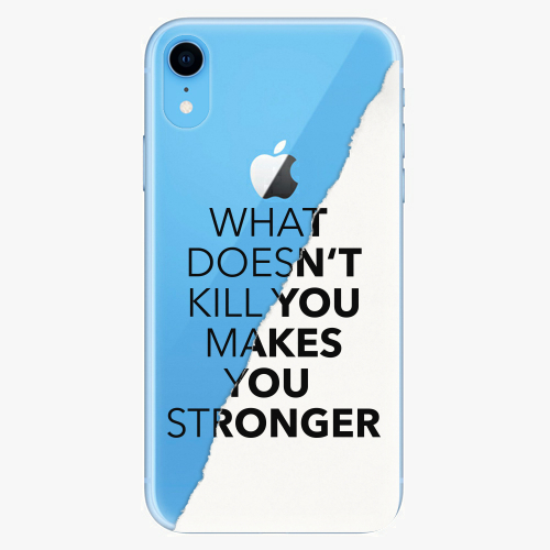 Silikonové pouzdro iSaprio - Makes You Stronger na mobil Apple iPhone XR