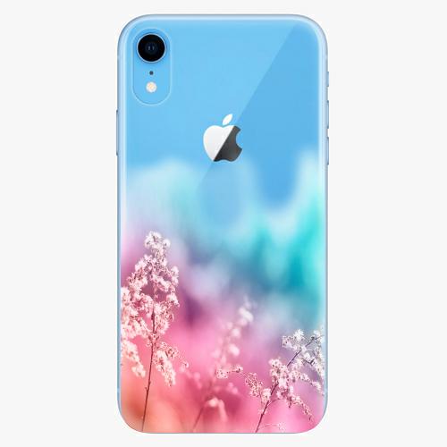 Silikonové pouzdro iSaprio - Rainbow Grass na mobil Apple iPhone XR