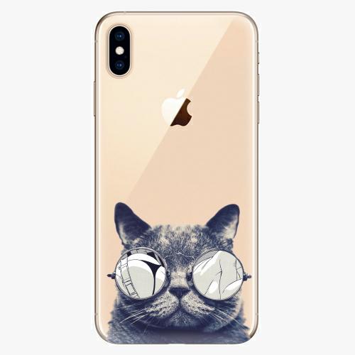 Silikonové pouzdro iSaprio - Crazy Cat 01 na mobil Apple iPhone XS Max