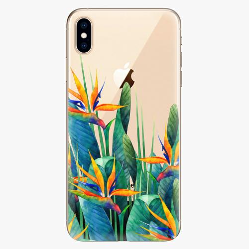 Silikonové pouzdro iSaprio - Exotic Flowers na mobil Apple iPhone XS Max