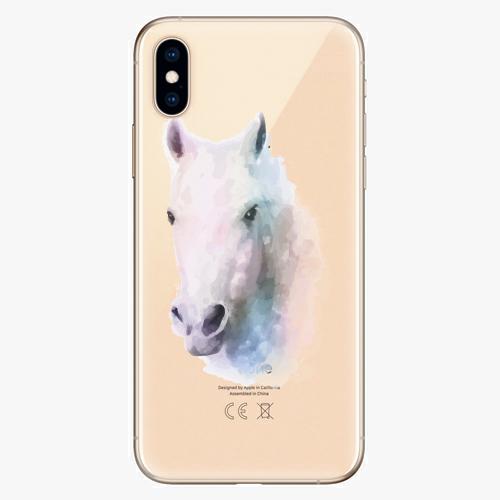 Silikonové pouzdro iSaprio - Horse 01 na mobil Apple iPhone XS
