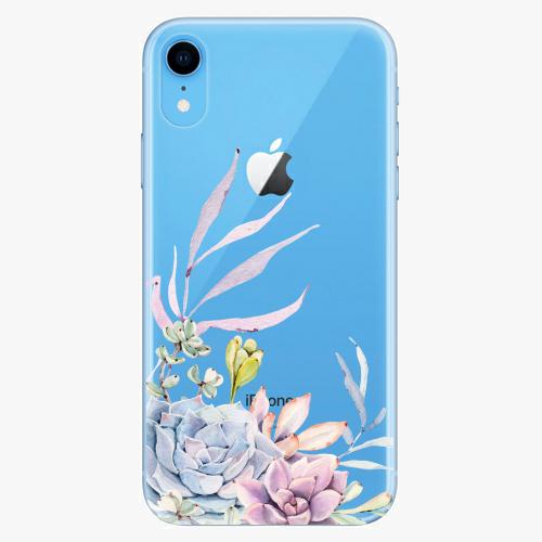 Silikonové pouzdro iSaprio - Succulent 01 na mobil Apple iPhone XR