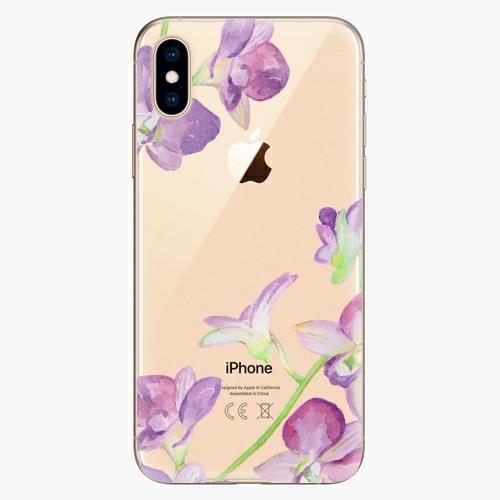 Silikonové pouzdro iSaprio - Purple Orchid na mobil Apple iPhone XS