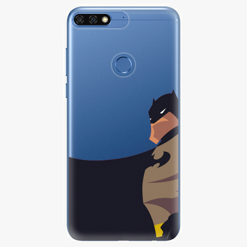 Silikonové pouzdro iSaprio - BaT Comics na mobil Honor 7C