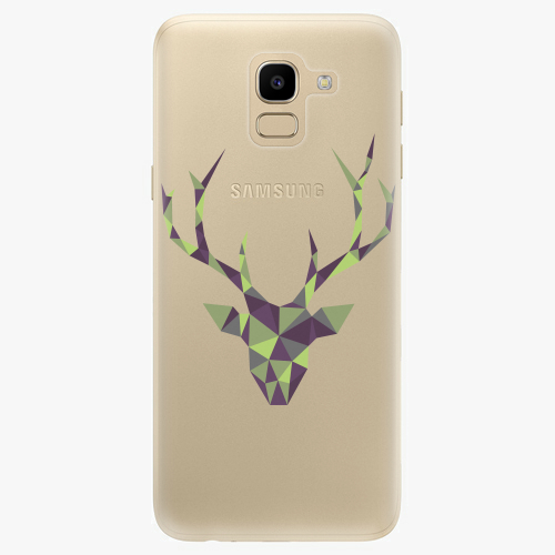 Silikonové pouzdro iSaprio - Deer Green na mobil Samsung Galaxy J6