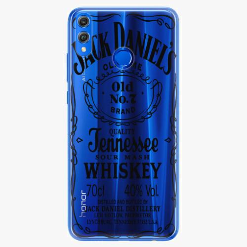 Silikonové pouzdro iSaprio - Transparent Black Jack na mobil Honor 8X