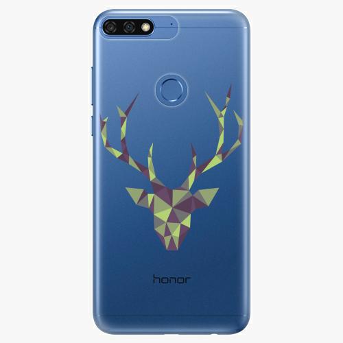 Silikonové pouzdro iSaprio - Deer Green na mobil Honor 7C