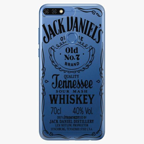 Silikonové pouzdro iSaprio - Transparent Black Jack na mobil Honor 7C