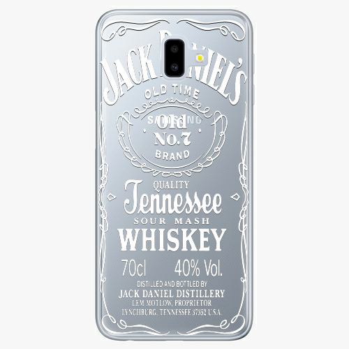 Silikonové pouzdro iSaprio - Transparent White Jack na mobil Samsung Galaxy J6 Plus