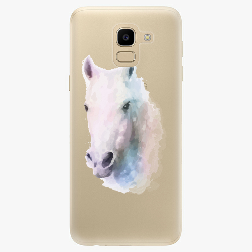 Silikonové pouzdro iSaprio - Horse 01 na mobil Samsung Galaxy J6