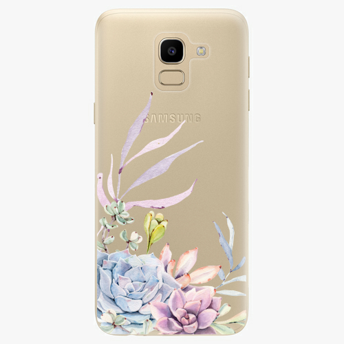 Silikonové pouzdro iSaprio - Succulent 01 na mobil Samsung Galaxy J6