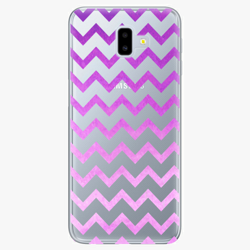 Silikonové pouzdro iSaprio - Zigzag purple na mobil Samsung Galaxy J6 Plus