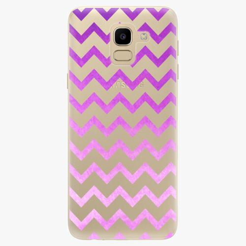 Silikonové pouzdro iSaprio - Zigzag purple na mobil Samsung Galaxy J6