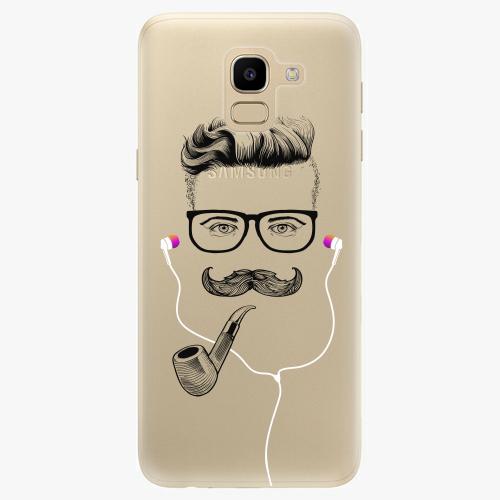 Silikonové pouzdro iSaprio - Man With Headphones 01 na mobil Samsung Galaxy J6