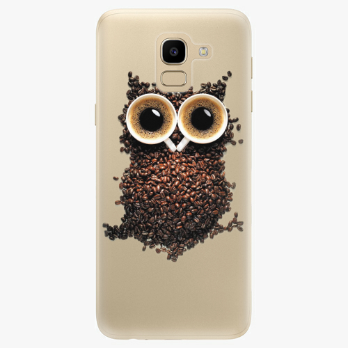 Silikonové pouzdro iSaprio - Owl And Coffee na mobil Samsung Galaxy J6