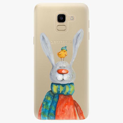 Silikonové pouzdro iSaprio - Rabbit And Bird na mobil Samsung Galaxy J6