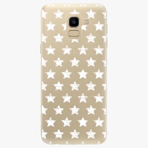 Silikonové pouzdro iSaprio - Stars Pattern white na mobil Samsung Galaxy J6