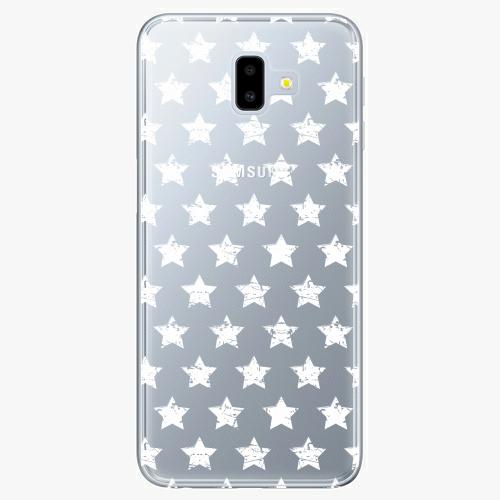 Silikonové pouzdro iSaprio - Stars Pattern white na mobil Samsung Galaxy J6 Plus