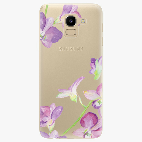 Silikonové pouzdro iSaprio - Purple Orchid na mobil Samsung Galaxy J6