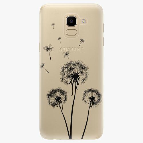 Silikonové pouzdro iSaprio - Three Dandelions black na mobil Samsung Galaxy J6