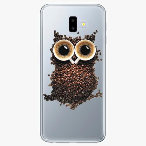 Silikonové pouzdro iSaprio - Owl And Coffee na mobil Samsung Galaxy J6 Plus