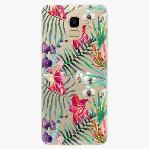 Silikonové pouzdro iSaprio - Flower Pattern 03 na mobil Samsung Galaxy J6