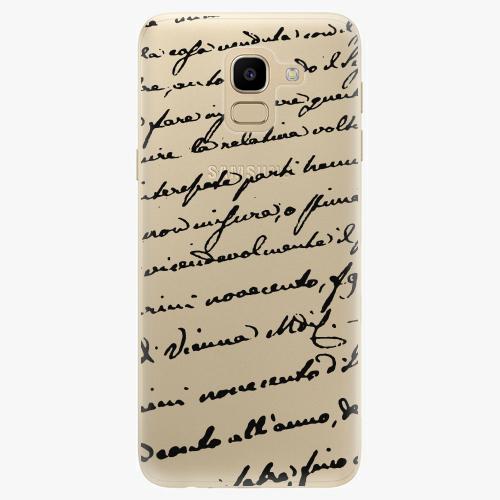 Silikonové pouzdro iSaprio - Handwriting 01 black na mobil Samsung Galaxy J6