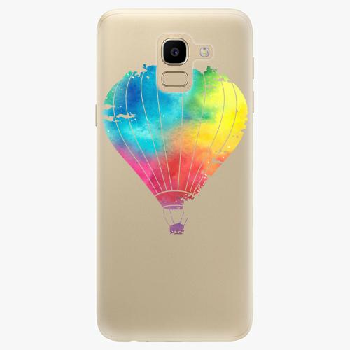 Silikonové pouzdro iSaprio - Flying Baloon 01 na mobil Samsung Galaxy J6