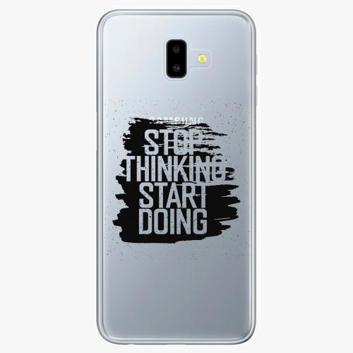 Silikonové pouzdro iSaprio - Start Doing black na mobil Samsung Galaxy J6 Plus