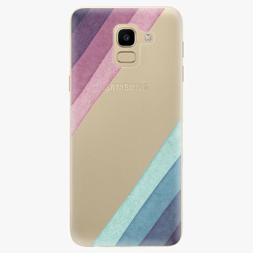Silikonové pouzdro iSaprio - Glitter Stripes 01 na mobil Samsung Galaxy J6