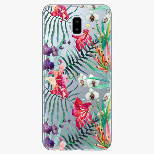 Silikonové pouzdro iSaprio - Flower Pattern 03 na mobil Samsung Galaxy J6 Plus