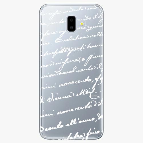 Silikonové pouzdro iSaprio - Handwriting 01 white na mobil Samsung Galaxy J6 Plus