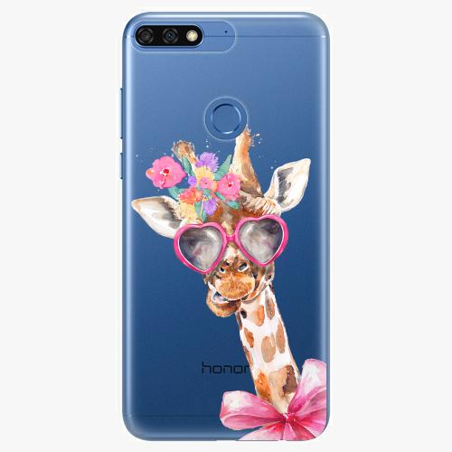 Silikonové pouzdro iSaprio - Lady Giraffe na mobil Honor 7C