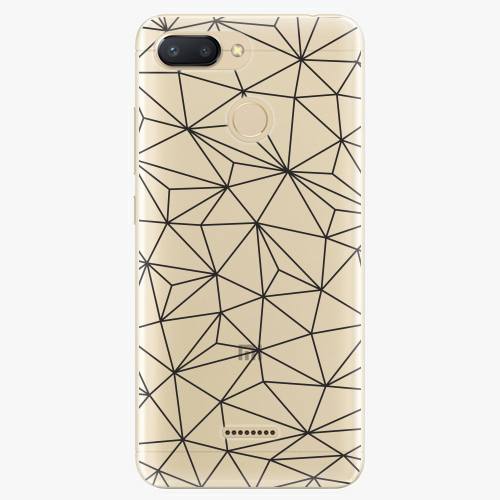Silikonové pouzdro iSaprio - Abstract Triangles 03 black na mobil Xiaomi Redmi 6