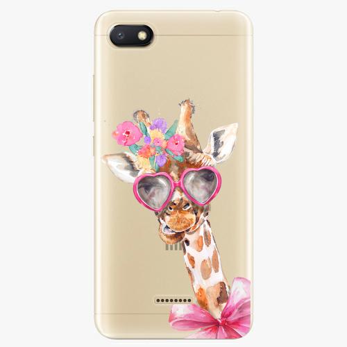 Silikonové pouzdro iSaprio - Lady Giraffe na mobil Xiaomi Redmi 6A