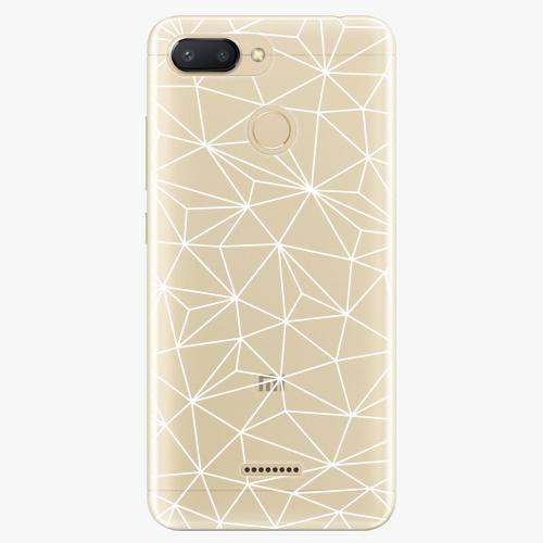 Silikonové pouzdro iSaprio - Abstract Triangles 03 white na mobil Xiaomi Redmi 6