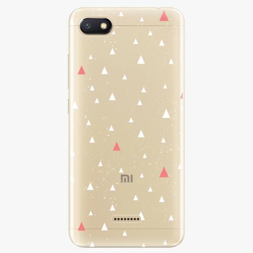 Silikonové pouzdro iSaprio - Abstract Triangles 02 white na mobil Xiaomi Redmi 6A